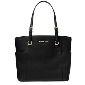 Michael Kors Jet Set EW Pocket Tote (Black)